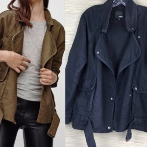 Wilfred Free Aritzia Rayder Moto Military Jacket